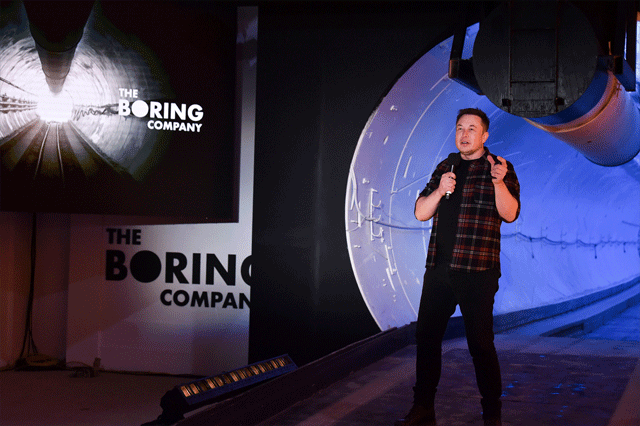 Boring Company's first tunnel