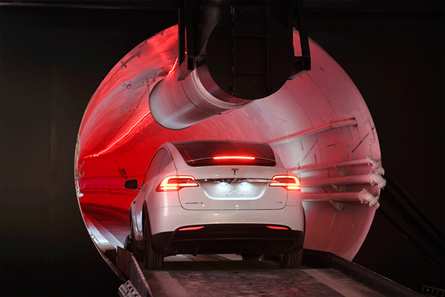 boring company's tunnel demonstration